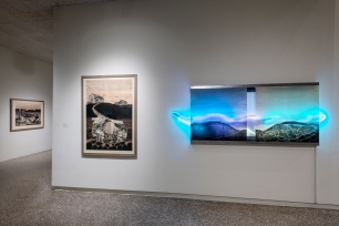 Jerome Emerging Artist Fellowship Exhibition installation at Minneapolis College of Art and Design, 2017